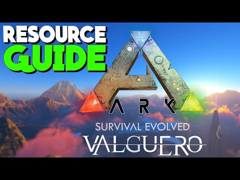VALGUERO RESOURCE GUIDE! - New Valguero Map   Ark: Survival Evolved