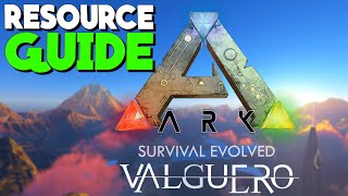 VALGUERO RESOURCE GUIDE! - New Valguero Map | Ark: Survival Evolved