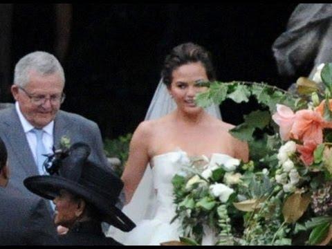 John Legend Chrissy Teigen Wedding In Italy - YouTube