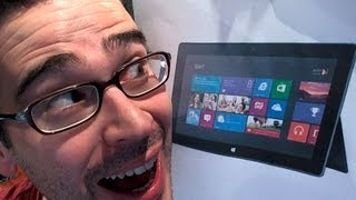 microsoft surface unboxing windows rt initial impressions