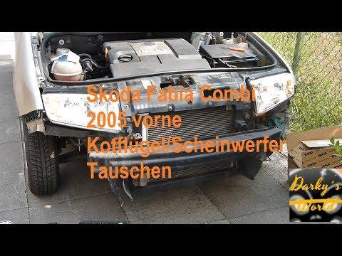 skoda-fabia-combi-2005-vorne-kotflügel-scheinwerfer-tauschen