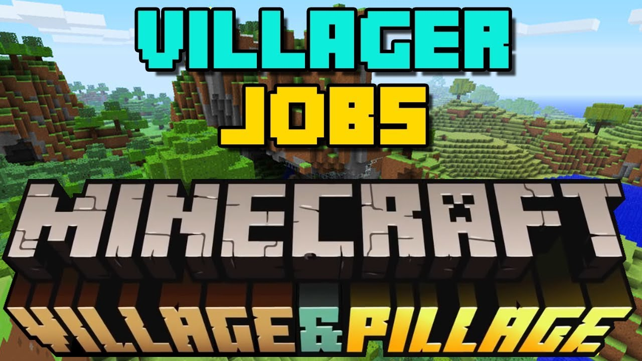 How to Give Villagers Jobs / Get Librarians etc  - 2019 - Minecraft Village  and Pillage