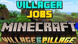 How to Give Villagers Jobs / Get Librarians etc. - 2019 - Minecraft Village and Pillage