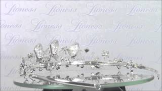 Свадебная диадема для прически с кристаллами Swarovski