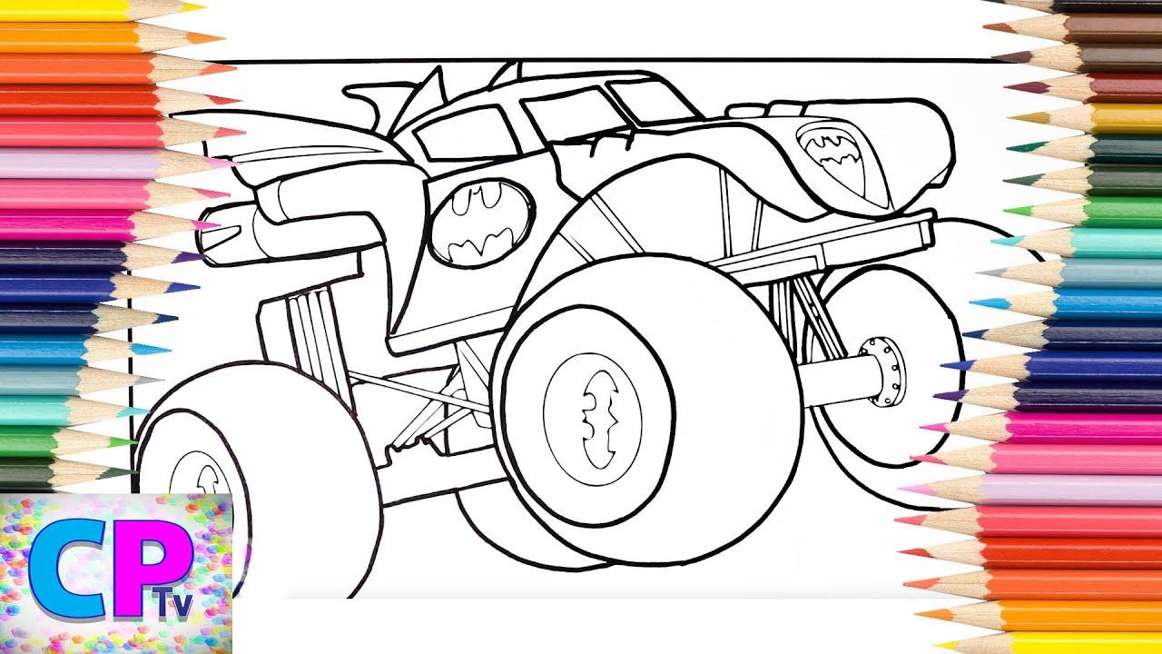 Batman Super Car Coloring Pages, How to Color Batman Super ...