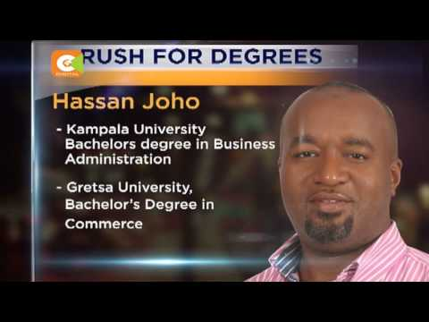 Politicians rush for degrees