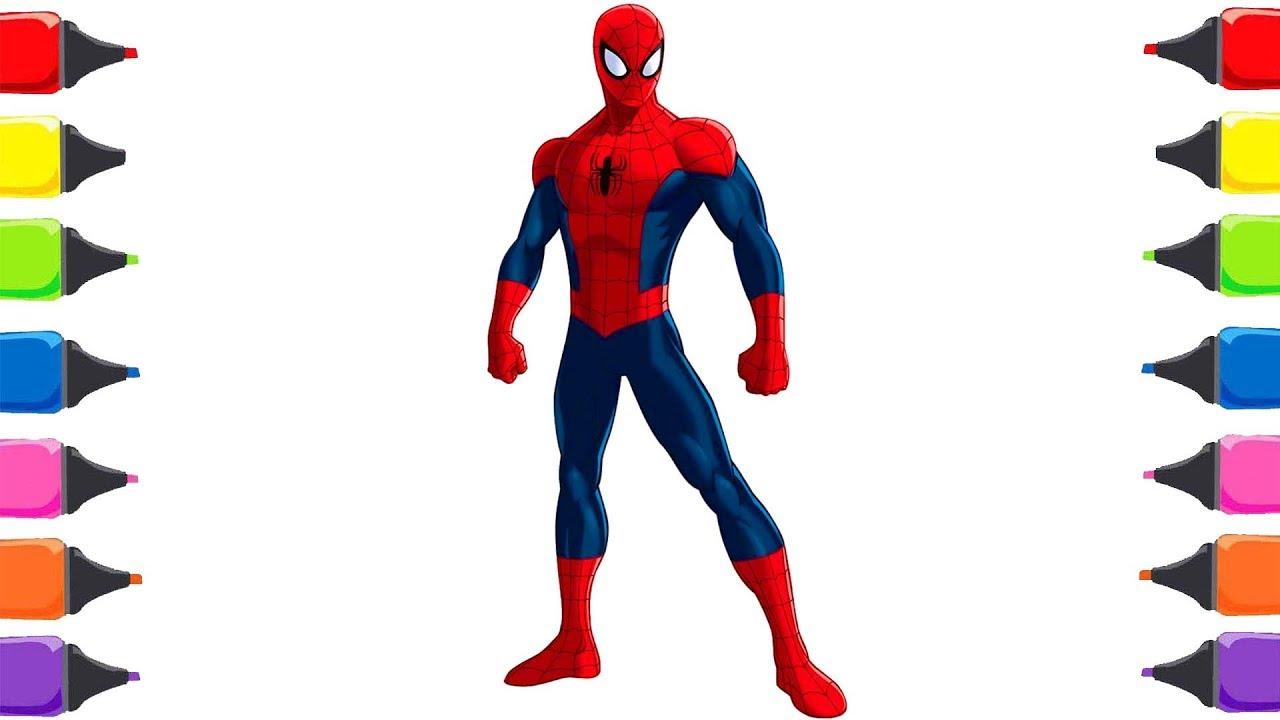 örümcek Adam çizgi Film Boyama Oyunu Ile Renkleri öğreniyorum