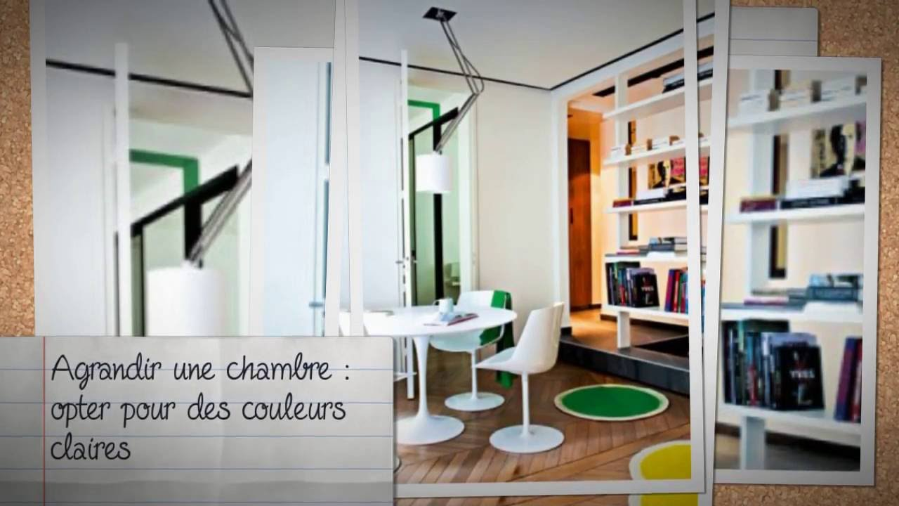 conseil deco comment agrandir l 39 espace d 39 une chambre youtube. Black Bedroom Furniture Sets. Home Design Ideas