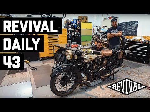 Triumph Flat Tracker and a Brough Superior SS80! // Revival Daily 43