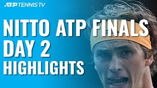 Zverev & Tsitsipas Record Maiden Wins Over Nadal & Medvedev | Nitto ATP Finals 2019 Day 2 Highlights