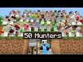 Minecraft Manhunt but i invited 50 Hunters..