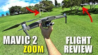 DJI MAVIC 2 ZOOM Flight Review - Crazy Windy Tracking & Avoidance, Zooming, Pros & Cons