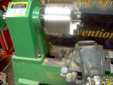 Central Machine lathe, I change the wood lathe into a metal lathe.