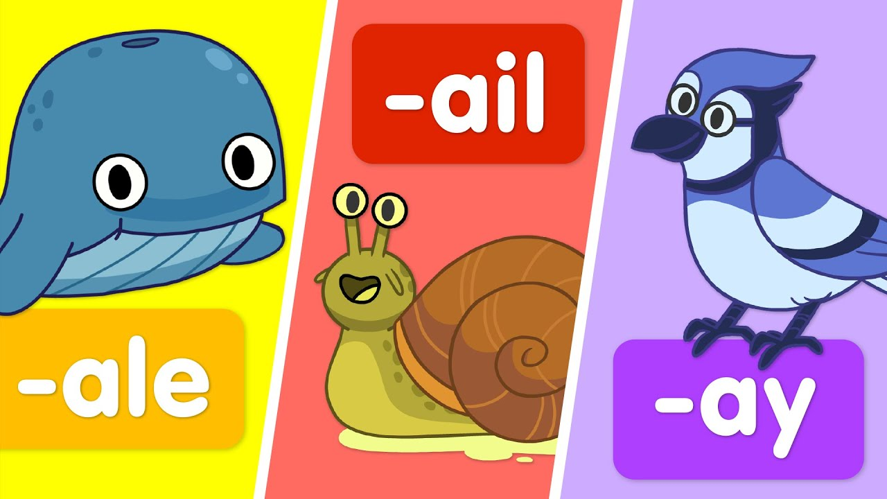 """Turn & Learn: Word families that use the long """"a"""" sound."""