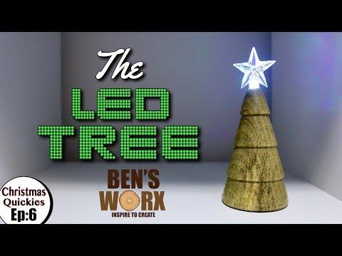 Woodturning the LED Christmas Tree Ornament