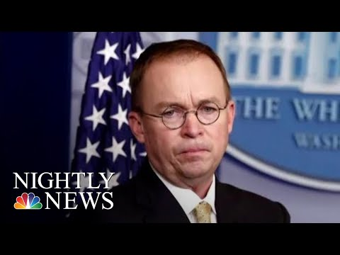 Donald Trump Chooses Mick Mulvaney To Be New 'Acting White House Chief Of Staff' | NBC Nightly News