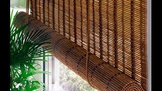 бамбуковые шторы (роллеты) в интерьере