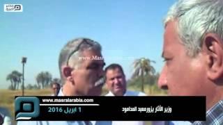 بالفيديو| وزير الآثار يتفقَّد معبد المدامود بالأقصر