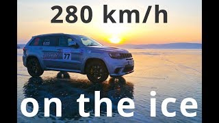 Jeep GC Trackhawk, the speed limit on the ice