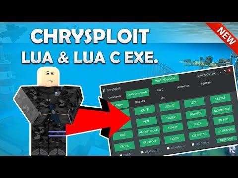 โปร Roblox Exploit Chrysploit Level 7 ใชไดทà¸à¹à¸¡à¸ž Full Lua Executor More 2018 Working Op Updated Exploit Chrysploit Lua C Lua Exe Limited Noclip 100 Cmds And More Jan 7th Youtube