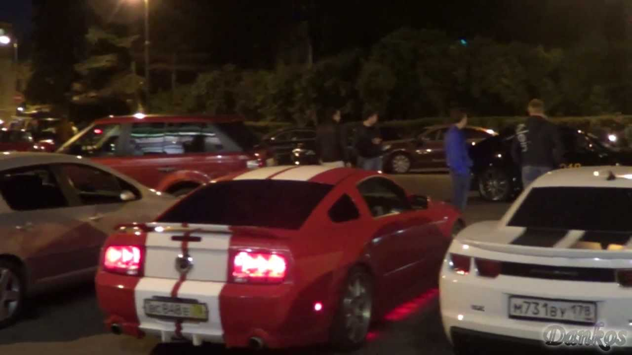 Ford Mustang Gt350v8 With Red Neon Lights Chevrolet