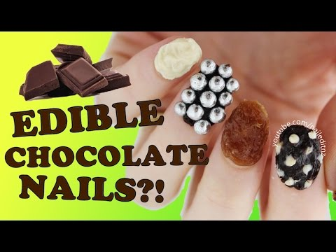 EDIBLE CHOCOLATE NAIL ART?! | Nailed It NZ