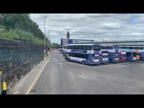 A Tour Round The First Glasgow Caledonia Bus Depot From The Top Deck Of A Volvo B7TL, 32657