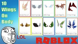 Roblox | Try 10 In Roblox | How To Wear 10 Wings | MinhMaMa