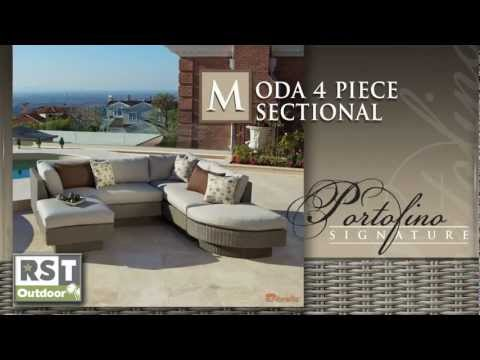 Portofino WG 4PC Moda Sectional