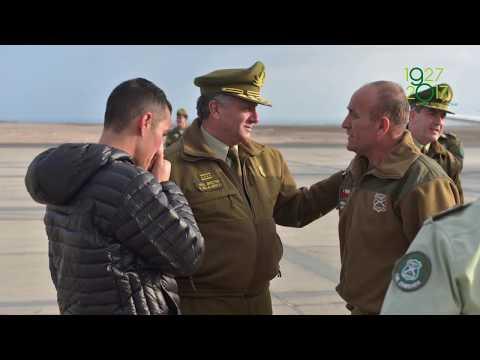 General Director recibe a Carabineros en la frontera de nuestro país