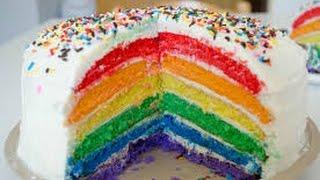 How To Basic - How to make rainbow cake