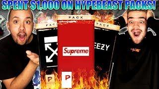 Spending $1,000 On Online Hypebeast Mystery Booster Packs!!
