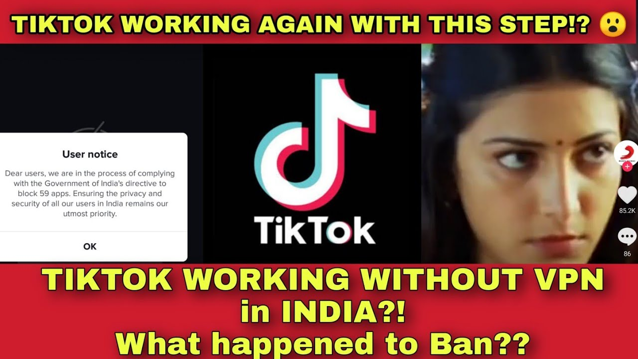 TikTok working without VPN in India after ban with these steps! What happened to the ban? |