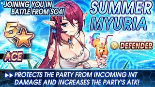 Star Ocean Anamnesis - Summer Miki & Summer Myuria Swimsuit Banner & Planet of the Blue Sea Event