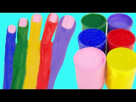 Thumbnail: Learn Colors Superhero Finger Family Nursery Rhymes Body Paint Hulk Spider man Feet Toes
