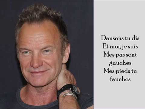 La Belle Dames San Regrets - Sting - (Lyrics)