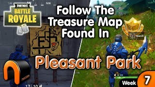 Follow The Treasure Map Found in Pleasant Park - FORTNITE