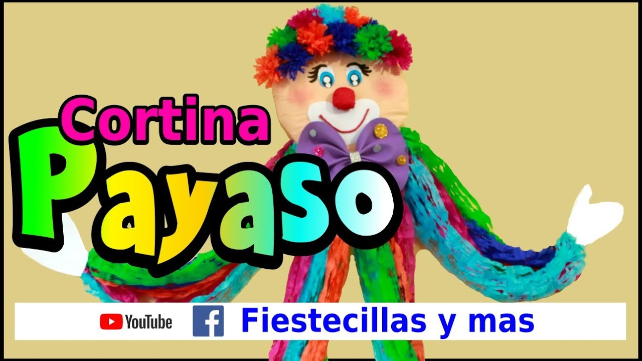 Cortina de Payaso en papel crepe - YouTube
