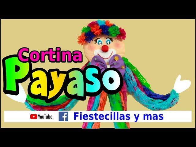 Cortina de Payaso en papel crepe - YouTube