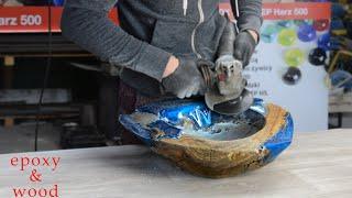 Umywalka z drewna tekowego i żywicy epoksydowej do drewna