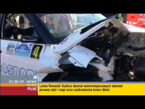 Robert kubica car crash at andora rally news youtube for Kubica cars