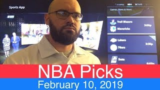 NBA Picks (2-10-19) | Basketball Sports Betting Expert Predictions | Vegas Odds | February 10, 2019