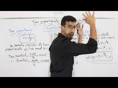 CAFE ECO : Mathématiques Financières S2 #EP11 Taux proportionnels et Taux équivalents Darija