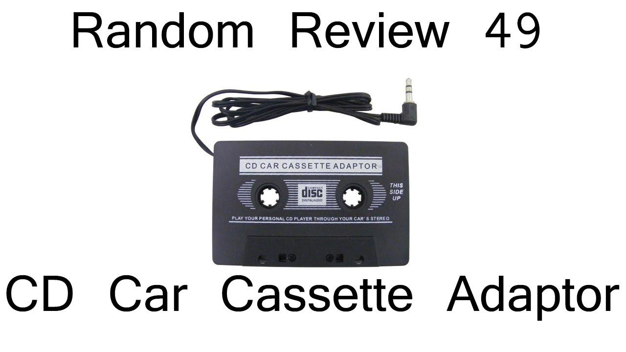 Random Review 49 Cd Car Cassette Adaptor Youtube Kaset Casete Adapter Tape Mp3 Mobil