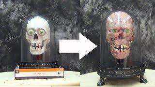halloween tutorial gel 00 talking skull