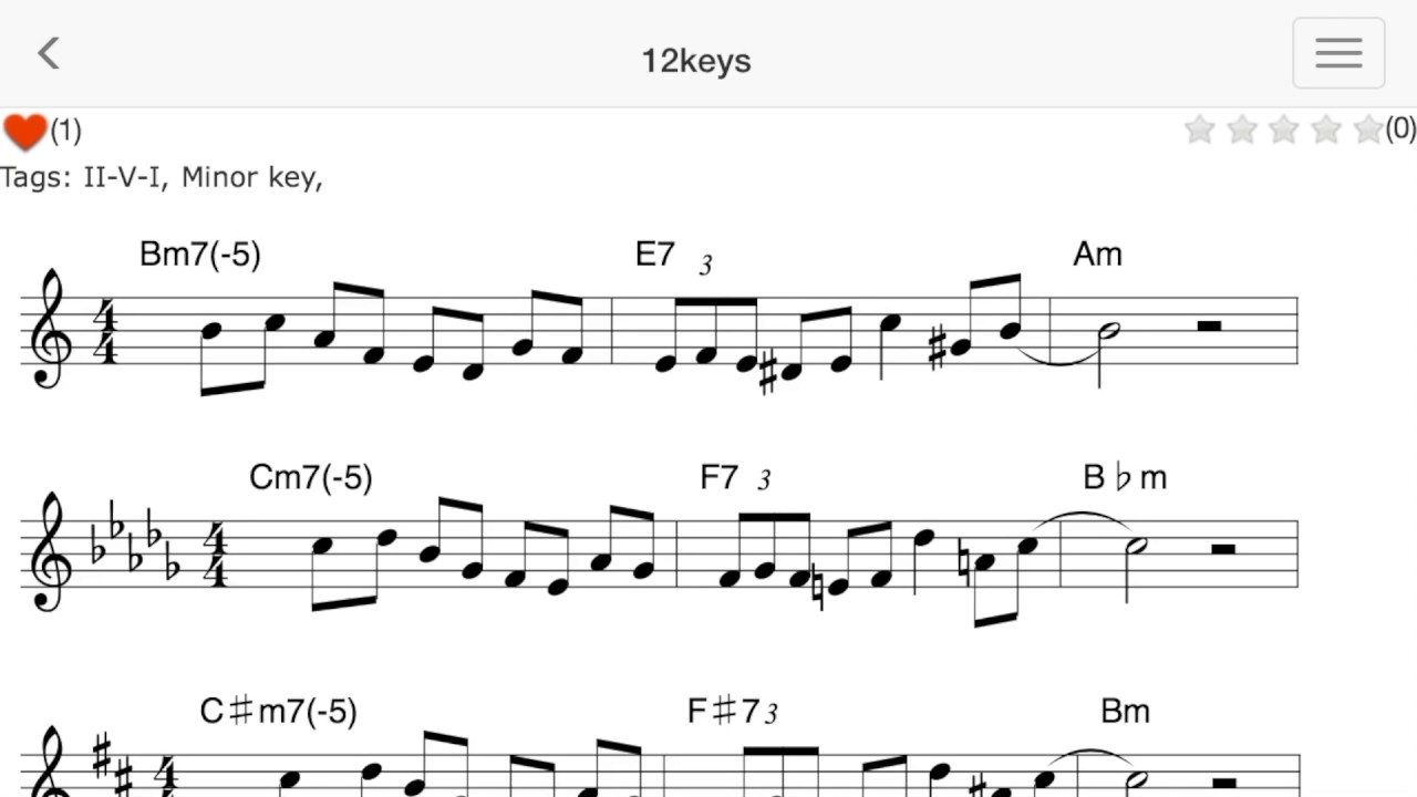 Phrases-practice jazz licks in 12keys-
