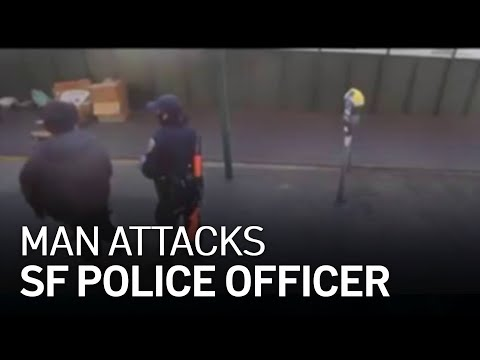 VIDEO: Bystanders rush in to help female Asian officer being attacked by homeless man in San Francisco