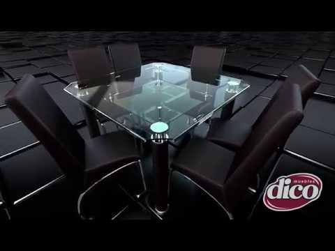 Dise adores dico presentan comedores de cristal youtube - Disenadores de muebles modernos ...