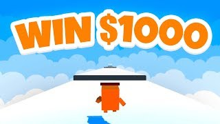 YOU WIN $1000 IF YOU CAN BEAT THIS GAME! (Impossible Runner)