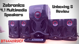 Zebronics BT4440RUCF 4 1 Multimedia Speakers Unboxing amp Review in Hindi Sound Test amp My Opinion